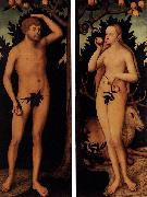 Lucas Cranach the Younger Adam and Eve oil painting