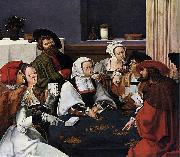 Lucas van Leyden Card Players oil painting reproduction