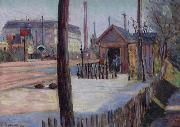 Paul Signac Railway junction near Bois Colombes oil painting reproduction