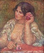 Pierre-Auguste Renoir Gabriele mit Rose oil painting reproduction