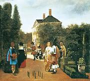 Pieter de Hooch Skittle Players in a Garden oil
