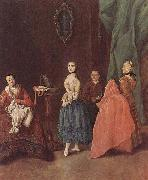 Pietro Longhi Dame bei der Schneiderin oil painting reproduction