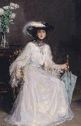 Sir John Lavery Evelyn Farquhar, wife of Captain Francis Douglas Farquhar daughter of the John Hely-Hutchinson, 5th Earl of Donoughmore oil painting artist