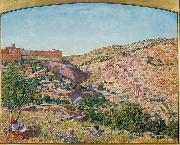 Thomas Seddon Jerusalem and the Valley of Jehoshaphat from the Hill of Evil Counsel oil painting artist