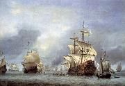 Willem Van de Velde The Younger The Taking of the English Flagship the Royal Prince oil painting