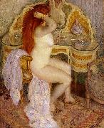 frederick carl frieseke Nude Seated at Her Dressing Table oil painting artist