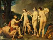 Anton Raphael Mengs The Judgment of Paris, painting by Anton Raphael Mengs, now in the Eremitage, St. Petersburg oil