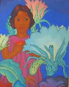 Arman Manookian Polynesian Girl oil painting