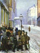 Christian Krohg Kampen for tilvarelsen oil painting reproduction