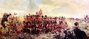 Ellen Bernard Thompson The 28th Regiment at Quatre Bras oil painting artist