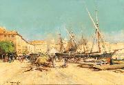 Eugene Galien-Laloue Marseille Port oil