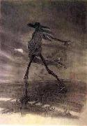 Felicien Rops Satan Sowing Seeds oil