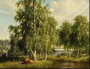 Ferdinand von Wright Summer landscape oil painting on canvas