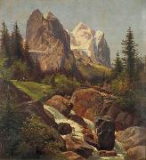 Friedrich Paul Nerly Wellhorn und Wetterhorn oil painting