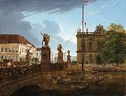 Friedrich Wilhelm Keyl View of Schlossbruke and Zeughaus oil painting