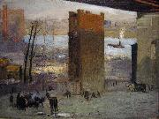 George Bellows The Lone Tenement oil painting artist