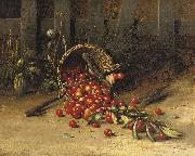 George Hitchcock The cherry thieves oil painting artist