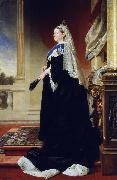 Heinrich Martin Krabbe Portrait of Queen Victoria as widow oil painting picture wholesale