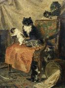 Henrietta Ronner-Knip Kittens at play oil