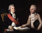Lemuel Francis Abbott George Macartney, 1st Earl Macartney; Sir George Leonard Staunton, 1st Bt oil painting artist
