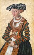 Lorens Pasch the Younger A Lady in a green velvet and orange dress and a pearl oil painting