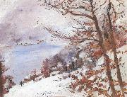 Lovis Corinth Walchensee im Winter oil painting reproduction