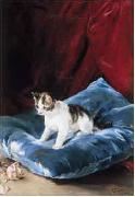 Marques, Francisco Domingo Cat oil painting artist