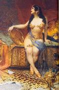Oscar Pereira da Silva Odalisque oil painting reproduction