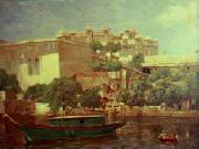 Raja Ravi Varma Udaipur Palace oil painting reproduction