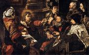 SERODINE, Giovanni Christ among the Doctors oil painting artist
