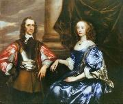 Sir Peter Lely Earl and Countess of Oxford by Sir Peter lely oil painting reproduction