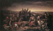 Soma Orlai Petrich Ms. Perenyi Gathering the Dead after the Battle at Mohacs oil