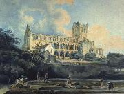 Thomas Girtin Jedburgh Abbey from the River oil painting on canvas