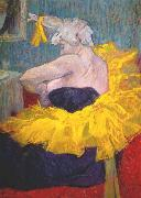 toulouse-lautrec The clownesse cha-u-kao at the Moulin Rouge oil