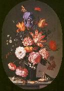 AST, Balthasar van der Flowers in a Glass Vase oil painting artist