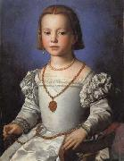 Agnolo Bronzino Portrait of Bia oil