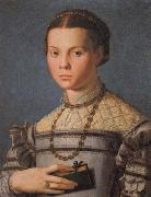 Agnolo Bronzino Portrait of a Little Gril with a Book oil