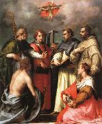 Andrea del Sarto The Debate over the Trinity oil painting picture wholesale