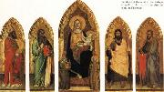 Andrea di Orcagna Madonna and Child Enthroned with Two Angels and SS.Andrew,Nicholas,john the Baptist and James oil painting picture wholesale