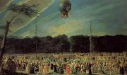 Antonio Carnicero The  Ascent of a Montgolfier Balloon oil painting artist