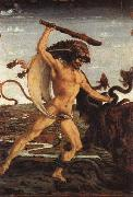 Antonio Pollaiolo Hercules and the Hydra oil painting artist
