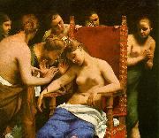 CAGNACCI, Guido The Death of Cleopatra oil painting artist