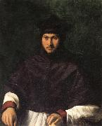 CARPI, Girolamo da Portrait of Archbishop Bartolini Salimbeni oil