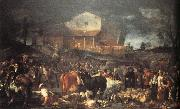 CRESPI, Giuseppe Maria The Fair at Poggio a Caiano oil painting picture wholesale