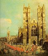 Canaletto London- Westminster Abbey with a Procession of the Knights of the Bath oil painting picture wholesale