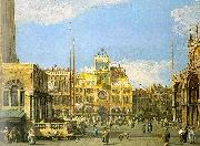 Canaletto Piazza San Marco- Looking North oil painting picture wholesale