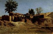 Carlos de Haes Tileworks in the Principe Pio Mountains oil painting artist
