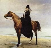 Carolus-Duran At the Seaside,Sophie Croizette on horseback oil painting artist