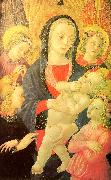 Castello Nativity, Master of the The Virgin Child Surrounded by Four Angels oil