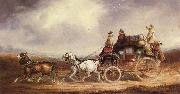 Charles Cooper The Edinburgh-London Royal Mail on the Road oil